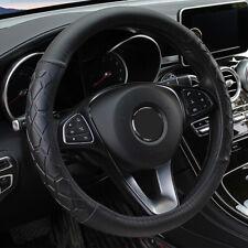 15''/38cm Fiber Leather Car Steering Wheel Cover Wear Silicone Non-Slip Soft Set
