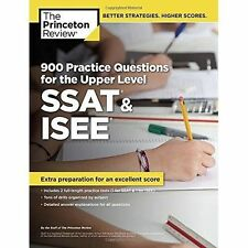 900 Practice Questions for the SSAT and ISEE by Princeton Review (Paperback,...