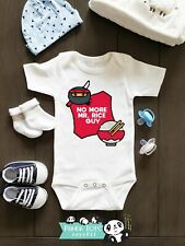 Funny Asian Baby Onesies - No More Mr. Rice Guy - Baby Shower Gift Pregnancy