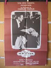 A823 UNA MUJER DE PARIS - CHARLES CHAPLIN MIDE 60X90CMM