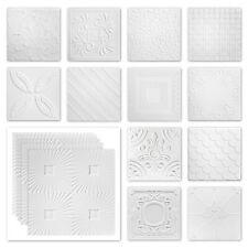 10 qm Deckenplatten Styropor weiß XPS 50x50cm verschiedene Dekore Sparpaket