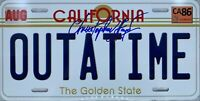 Christopher Lloyd autographed signed Back To The Future License Plate PSA COA