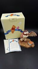 "Disney Pooh Friends School Books Owl ""You've Done a Very Grand Thing"" Figurine"