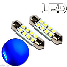 2 Ampoules navette c5w 36 mm 36mm 8 LED BLEU Habitacle Plafonnier coffre boite
