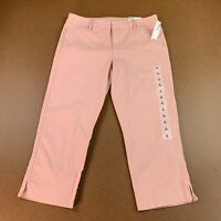 Old Navy Women's Size 6 Abalone Pink Mid-Rise Pixie Chino Capri Pants NWT