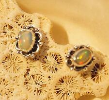 Edelopal Fatto a Mano Orecchini Chiusura Farfalla Ovale Opale Colorato Moderno