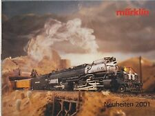 MARKLIN GAUGE HO Z & 1 MODEL RAILWAYS NEW ITEMS FOR 2001 CATALOGUE (GERMAN TEXT)