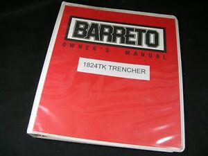 Barreto Trencher 1824TK Owner Maintenance Parts & Kohler Command & Eaton Manuals