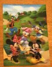 2013 Disney Movie Club Lenticular Collector Card Mickey Minnie Donald Duck Goofy
