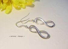 Ohrringe + Infinity + Unendlichkeit  silber  Symbol  handmade