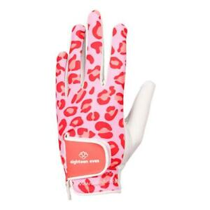Women's Leather Golf Glove - A Leopard's Spots are Always Pink Left, Right Hand
