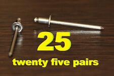 50 PCS of VIN tag rivets rosette GM, Ford, Mopar, Holden, HSV - EMS shipping
