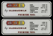 OLDSMOBILE 1967 442 / 350 HP Valve Cover Decal, 67 Olds