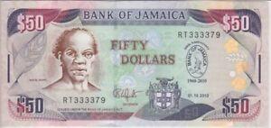 Jamaica Banknote P88 50 Dollars 2010 Commemorative, UNC