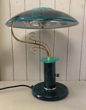 Vintage 1980's Modernist Style Flying Saucer Space Age UFO Lamp Light + Dimmer