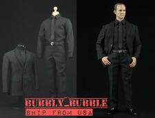 1/6 Scale Black Color Business Suit Agent Clothes For Hot Toys ☆SHIP FROM USA☆