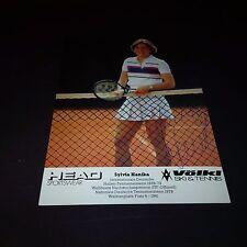 Sylvia Hanika (esp) tenis signed 10x15 autografiada mapa