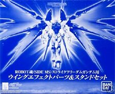 Used Bandai Robot Spirits Strike Freedom Gundam Wing effect part Stand set
