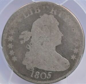 1805 DRAPED BUST QUARTER PCGS AG03 & CAC LOVELY UNBLEMISHED AND PROBLEM FREE FOR