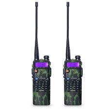 2pcs BaoFeng UV-5R Ham Radio VHF 136-174 UHF 400-520MHZ Walkie Talkie
