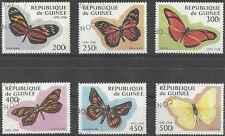 Timbres Papillons Guinée 1161A/F o lot 19359