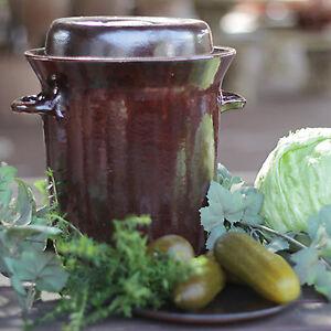 Gärtopf Kimchi-Topf aus Steinzeug 0,75L / 2,0L / 5,0L / 10L