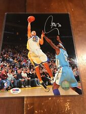 Stephen Curry Signed Golden State Warriors 8x10 PSA
