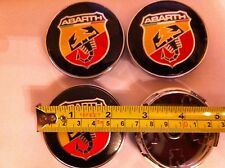 Abarth Fiat alloy wheels Center Caps Set (4) visage 60 mm clip 58 mm