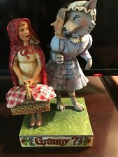 Jim Shore Little Red Riding Hood WOLF IN GRANDMA'S CLOTHING Figurine - Granny?