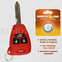 Keyless Entry Remote for 2006 2007 Dodge Magnum Car Key Fob Red