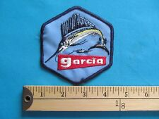 * 1 Vintage Garcia Fishing Marlin Sword Fish Rod Reel Patch Crest *