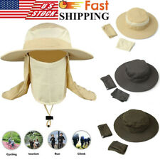 Fishing Outdoor Boonie Hunting Snap Hat Brim Ear Neck Cover Sun Flap Cap New