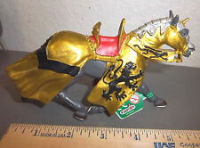 Safari, Ltd jousting Knight's HORSE with Gold Robe & Lion emblem # 62038