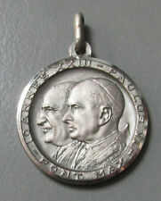 VATICAN SILVER POPE JOHN PAUL XXIII & MADONNA & CHILD PENDANT