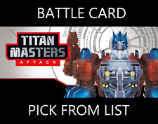 Transformers TCG Titan Masters Attack Wave 5 Battle Card - Pick From List