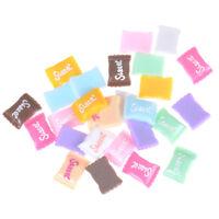10Pcs/Set Sweet Candies Miniature Food Models Dollhouse Accessories HF