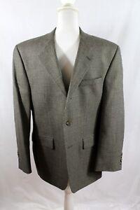 Men's Lauren Ralph Lauren 38S Blazer Sport Coat Herringbone Brown Tan Black wool