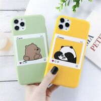 Funny Smart Bears Panda Cartoon Cute Instagram case iPhone 6s 7 8 X XS 11 Max XR