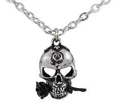 The Alchemist Skull & Rose Pendant - Alchemy Gothic Alchemical Totem/Talisman