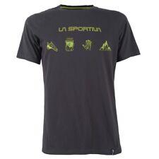 La Sportiva Essentials Tee (M) Carbon / Sulphur