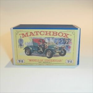 Matchbox Lesney Yesteryear  2 b 1911 Renault 2-seater Repro E1 Style Box Only