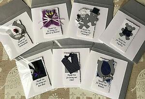 HANDMADE WEDDING BRIDAL PARTY GIFT CARDS BRIDESMAID BEST MAN USHER WITNESS etc