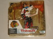 MCFARLANE TOYS NHL SERIES 4 CHICAGO BLACKHAWKS JOCELYN THIBAULT WHITE JERSEY