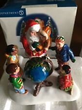 Dept 56 Original Snow Village Santa Comes To Town