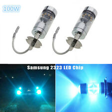 H3 100W Samsung 2323 LED 8000K Iceberg Blue Projector Fog Driving Light Bulbs