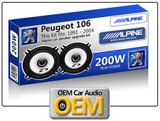 """Peugeot 106 Porte Arrière Haut Parleurs Alpine 13cm 5.25 """" Enceinte Voiture Kit"""