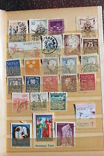 Collection of used postal stamps, Sweden