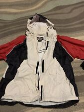 Harley Davidson Large Nylon Rain Gear Elastic Velcro Pants Hooded Jacket Set