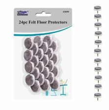 24 x Felt Pads Floor Protector Furniture Feet Black With PIn Nail For Srong Bond