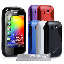 Accessories For The HTC Explorer Stylish Silicone Gel Case Cover Skin & Film UK